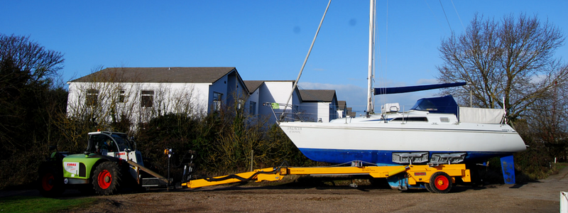 New Roodberg trailer at Tollesbury Marina