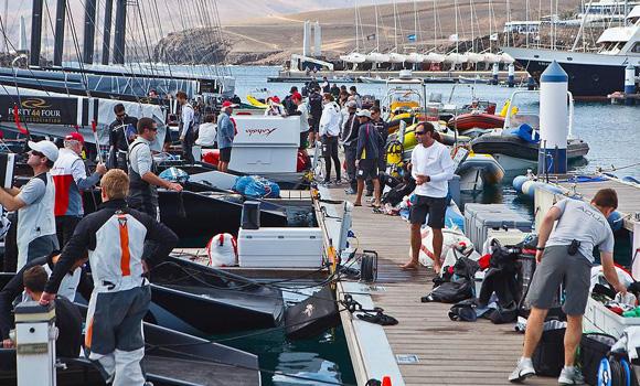 RC44 - Crews preparing their boats