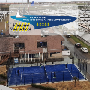 A new padel court in VYNieuwpoort marina - logo